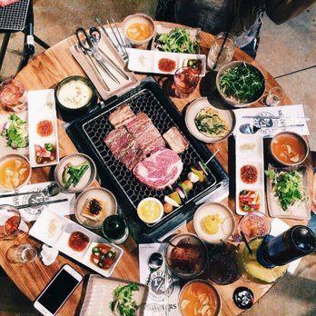 Photo Of Quarters Korean Bbq Los Angeles Ca United States Rib Eye Steak Quarters Korean Bbq Korean Bbq Ribeye Steak