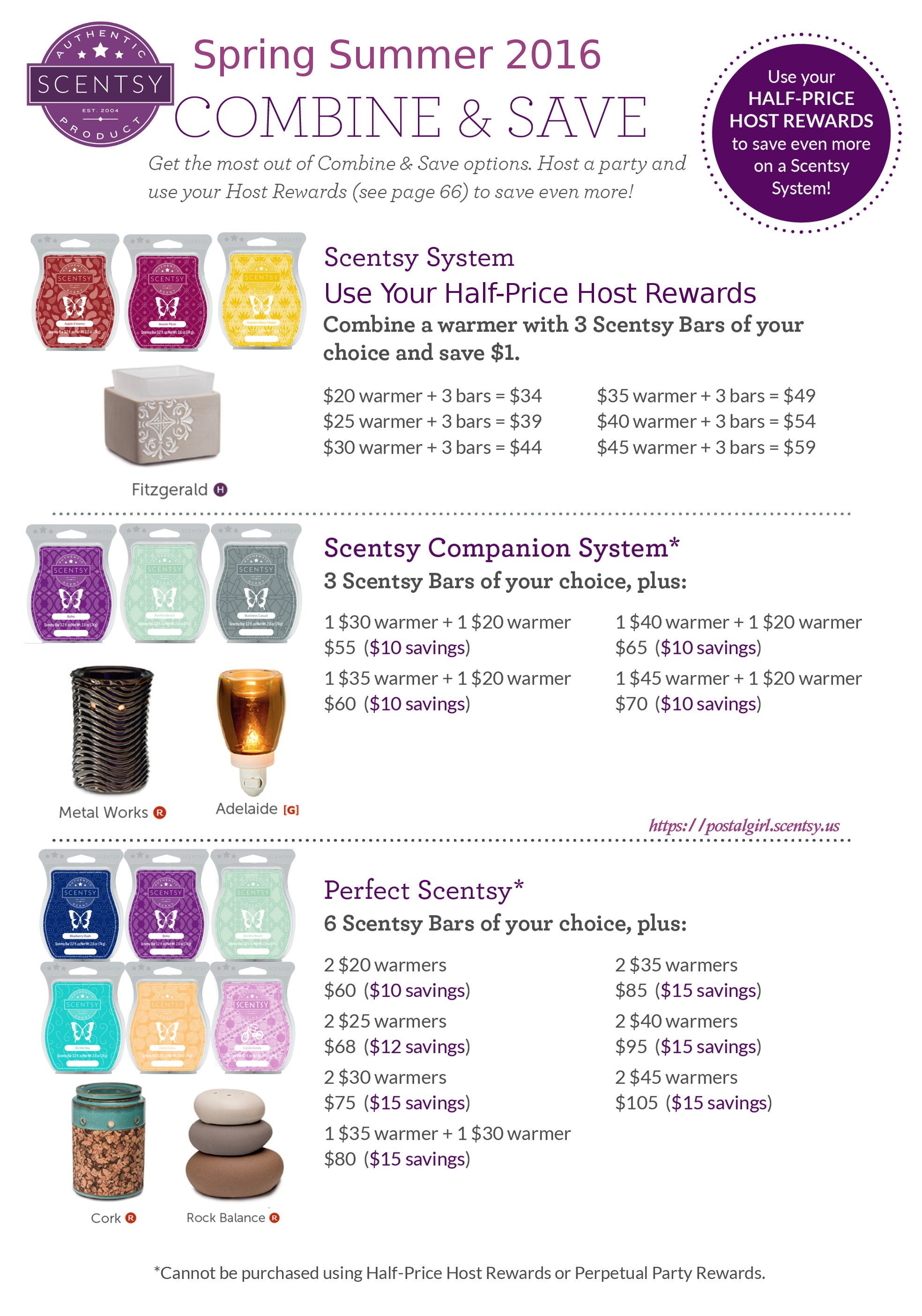 Scentsy Spring Summer 2016 Combine And Save For Products Starting