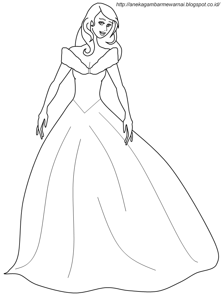 Aneka Gambar Mewarnai Gambar Mewarnai Cinderella Untuk Anak Paud