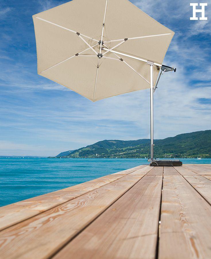 Auf Balkon, Terrasse und im Garten darf der Sonnenschirm nicht - sonnenschirm balkon terrasse