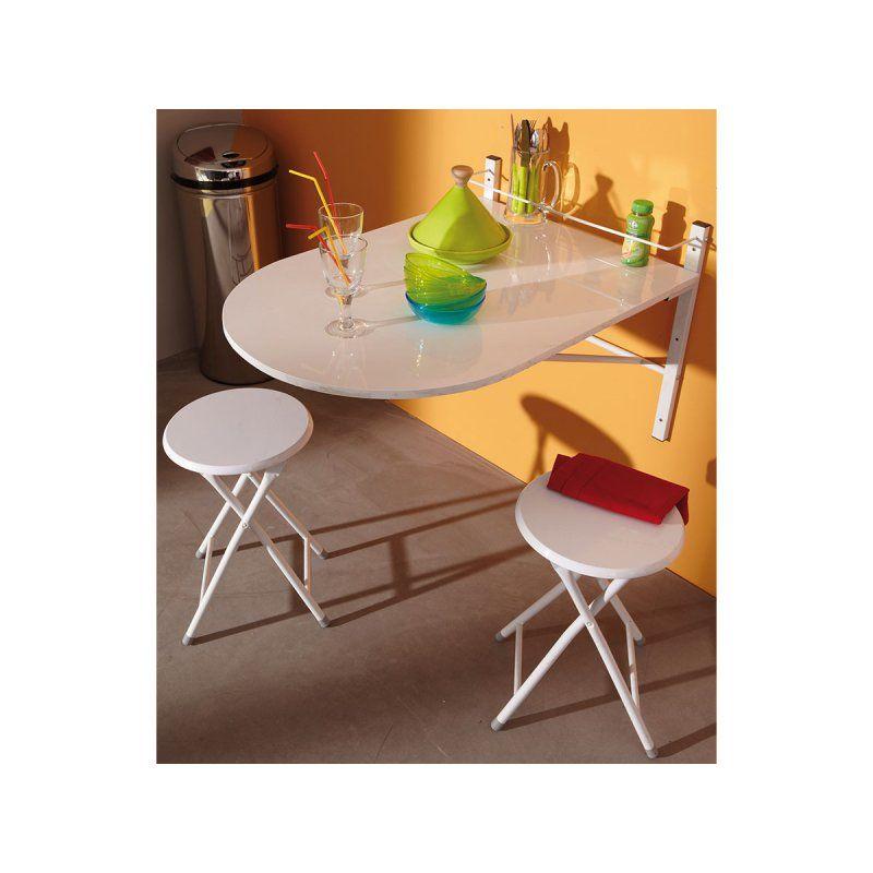 Wandtisch inkl. 2 Hocker \