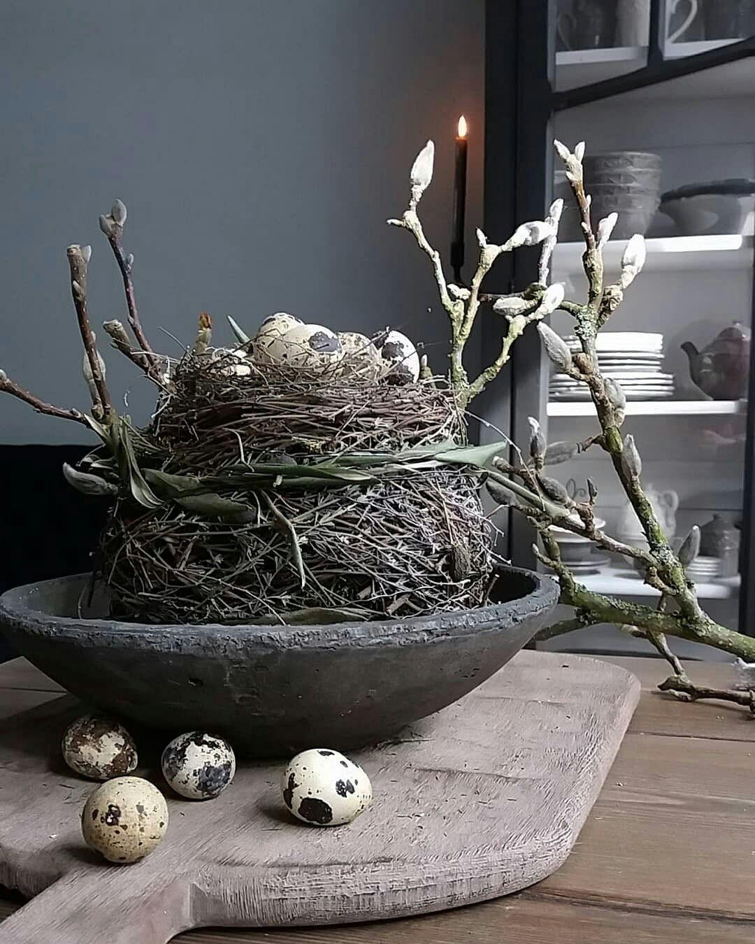 Pasen Easter Sober Landelijk Stoer Interieur Fruhlings Dekoration Osterdeko Dekoration