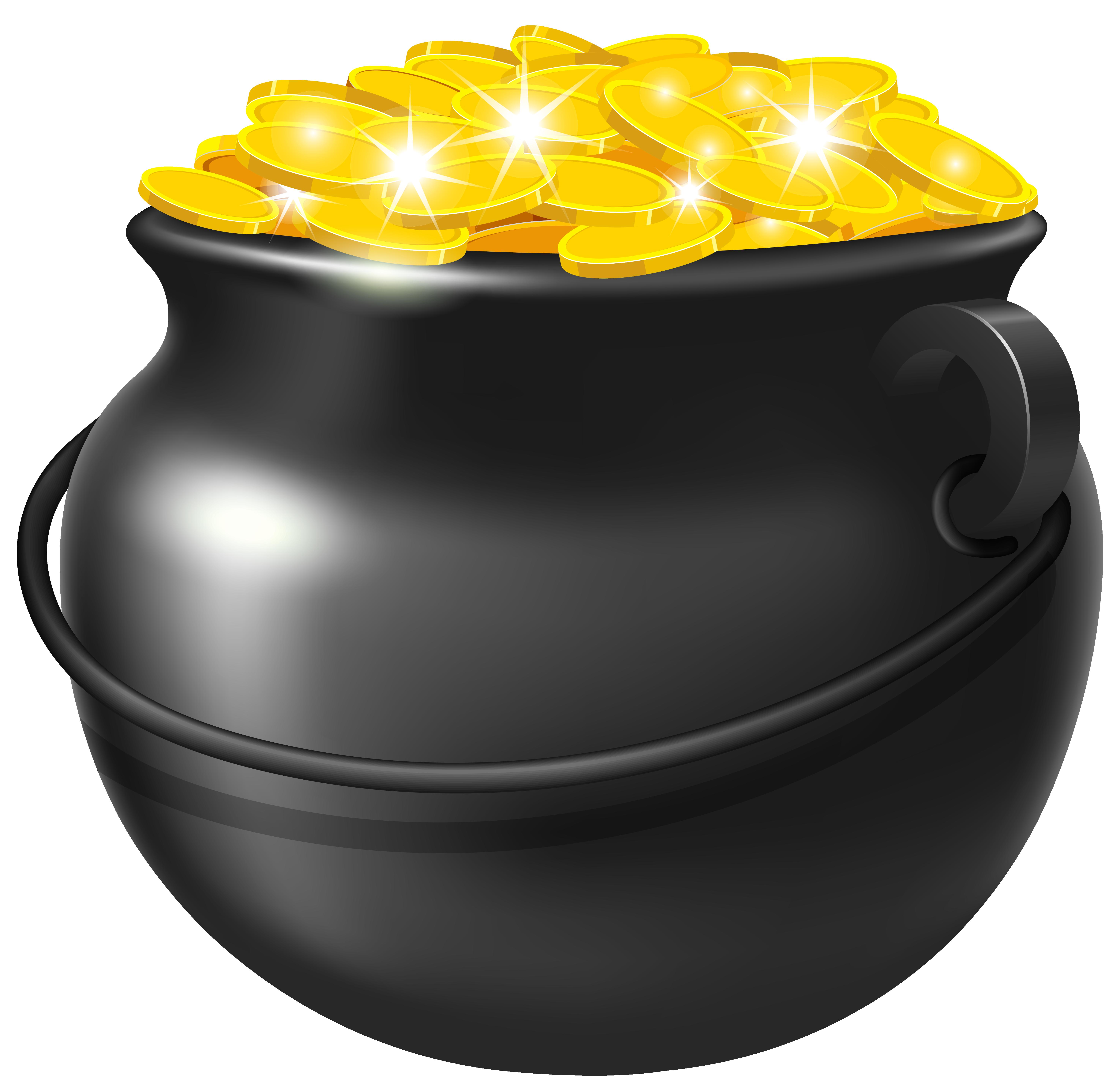 Black Pot Of Gold Png Clipart Image St Patricks Day Clipart Pot Of Gold Pot Of Gold Image