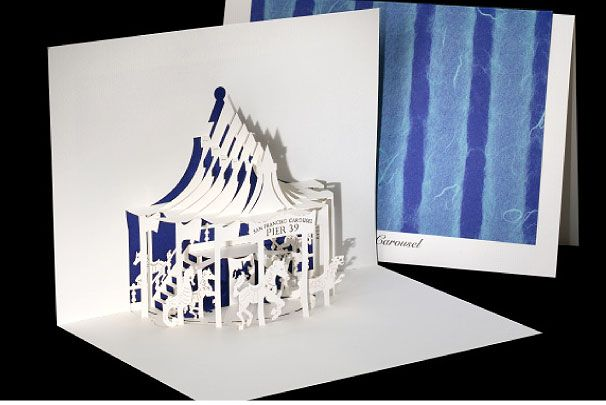 Pier 39 Carousel - Origami Architecture Pop-Up Cards by ...