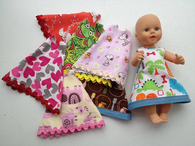 Project: Fast DIY Doll Dress for Small Dolls   Baby Doll ...