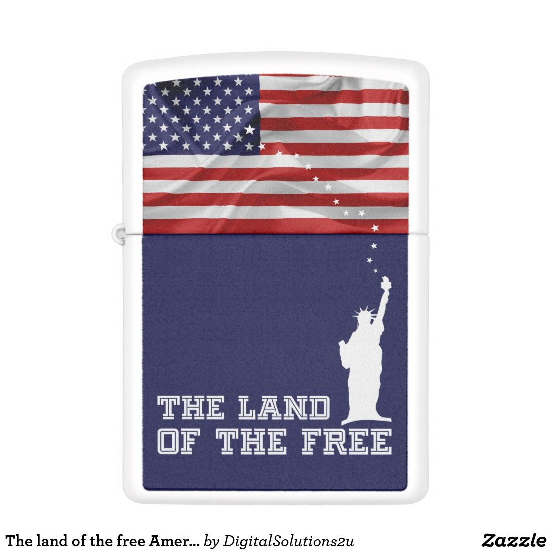 The Land Of The Free American Patriot Zippo Lighter Zazzle Com Zippo Lighter Zippo Pocket Light