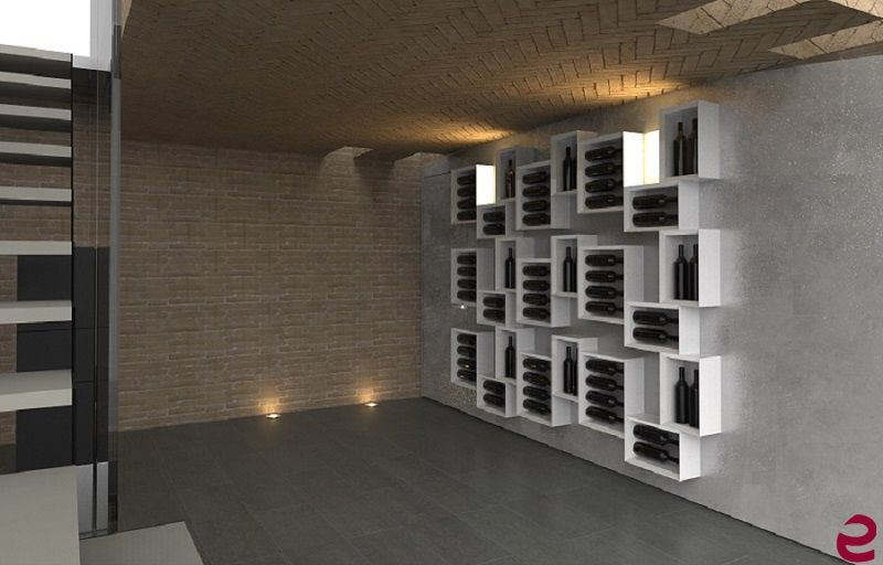 Arredamento Cantina ~ Arredamento esigo per #cantina #portabottiglie di #design esigo 5