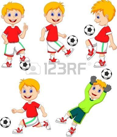 Dibujos Animados Boy Jugar Al Futbol Nino Jugando Futbol Dibujo De Ninos Jugando Dibujos Para Ninos