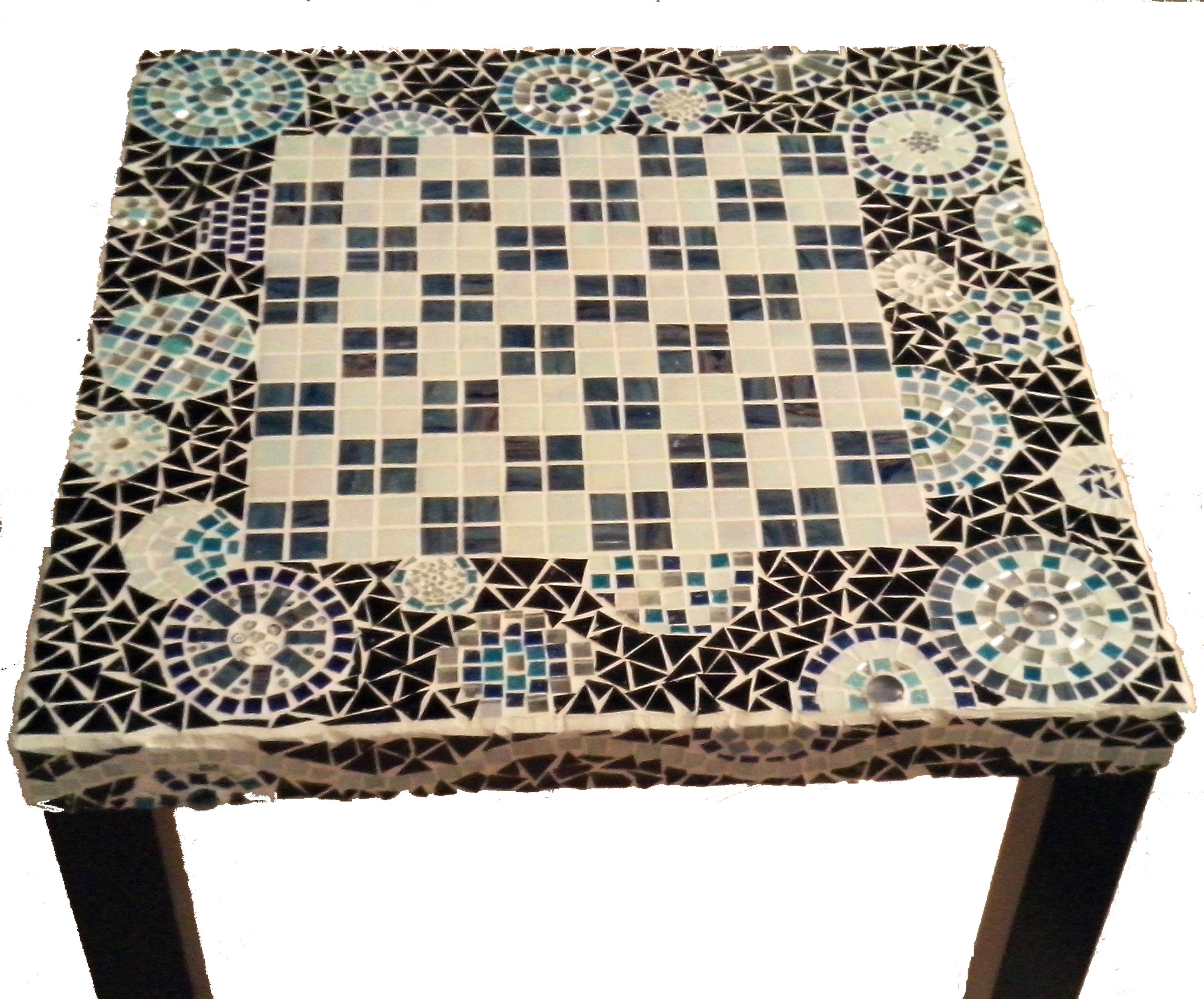 Tavolo Scacchiera ~ Checkerboard game table mosaic madness creations pinterest