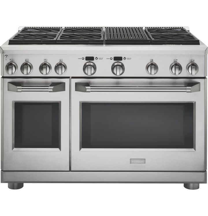 Zdp486nrpss Ge Monogram 48 Dual Fuel Pro Style Range With 6 Burners And Grill Natural Gas Stainle Monogram Appliances Kitchen Appliances Double Oven Range