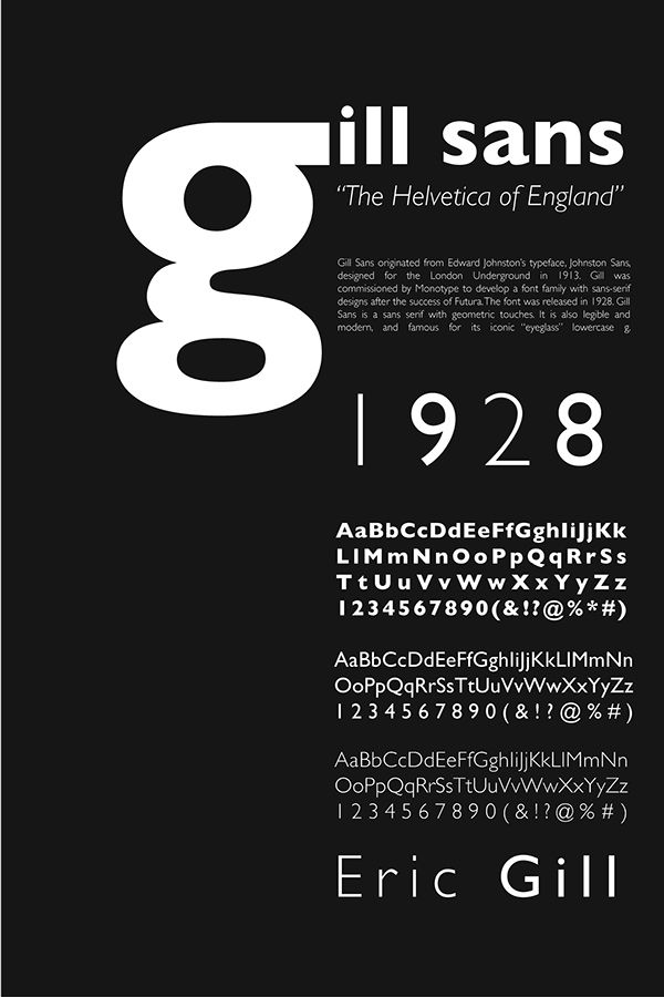 Gill Sans font poster - Google Search | Type setting