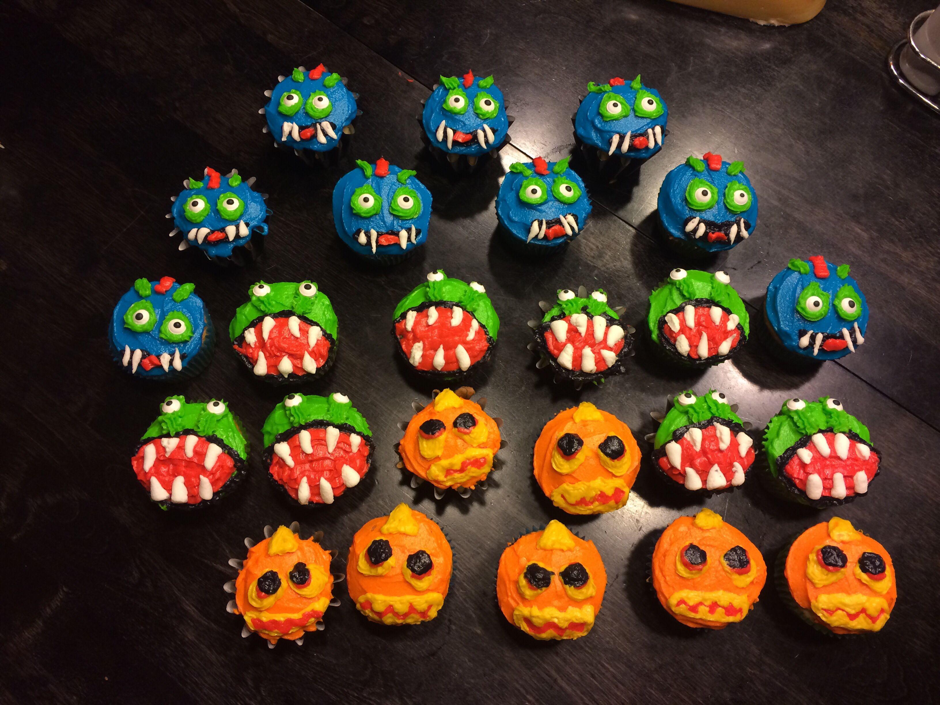 My skylander cupcakes Wrecking Ball Chompy Eruptor