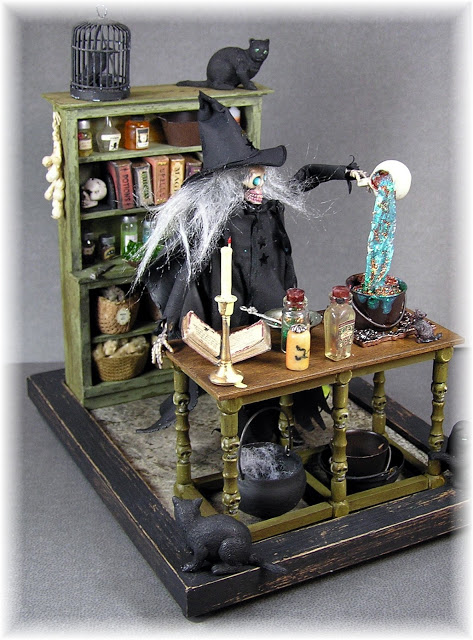 DYI DOLLHOUSE MINIATURES: THE WITCH'S KITCHEN