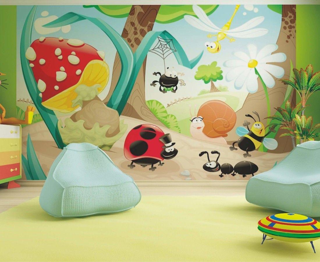 Colorful Animals Wallpaper Mural by WallandMore! Great Nursery Idea ...