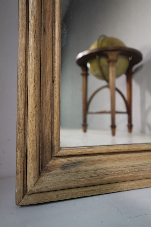 19th Century Drawing Room: Large 19th Century Antique Oak Mirror