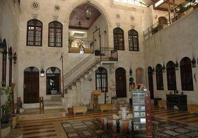 An Old House Turned Into Hotel Aleppo Syria فندق الصالحية من أجمل الفنادق ذات التراث القديم الجميل Islamic Architecture Aleppo Damascus Syria