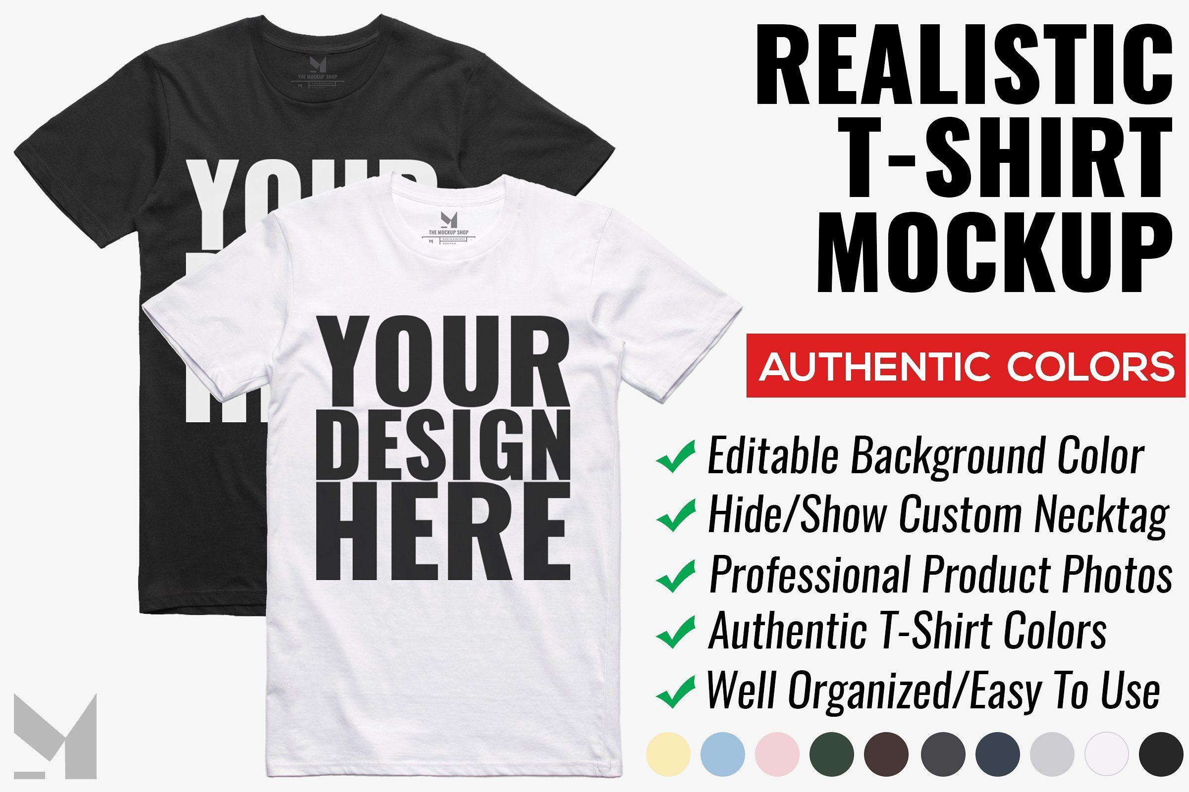 Download Realistic T Shirt Mockup Tshirt Mockup Shirt Mockup Design Mockup Free