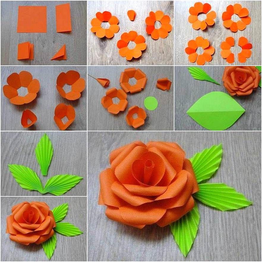 Hiasan Dinding Kamar Buatan Sendiri Motif Bunga Dari Kertas Origami Tutorial Bunga Kertas Templat Bunga Bunga Buatan Sendiri