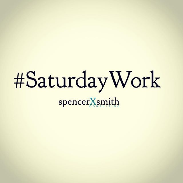 After my #SaturdayWorkout, and before my family wakes up, it's time for #SaturdayWork. I use it to catch up on projects when there are no emails or phone calls coming in. Do you work on #Saturday mornings? If so, what are you working on?