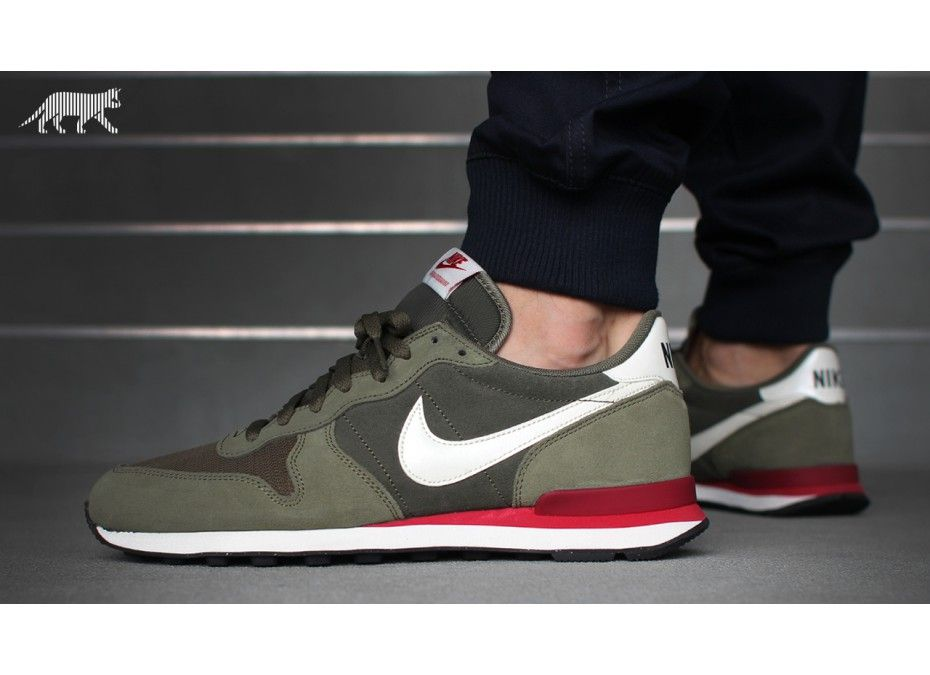 best service 5075d 37116 Nike Internationalist leather (Cargo Khaki  Sail - Medium Olive)