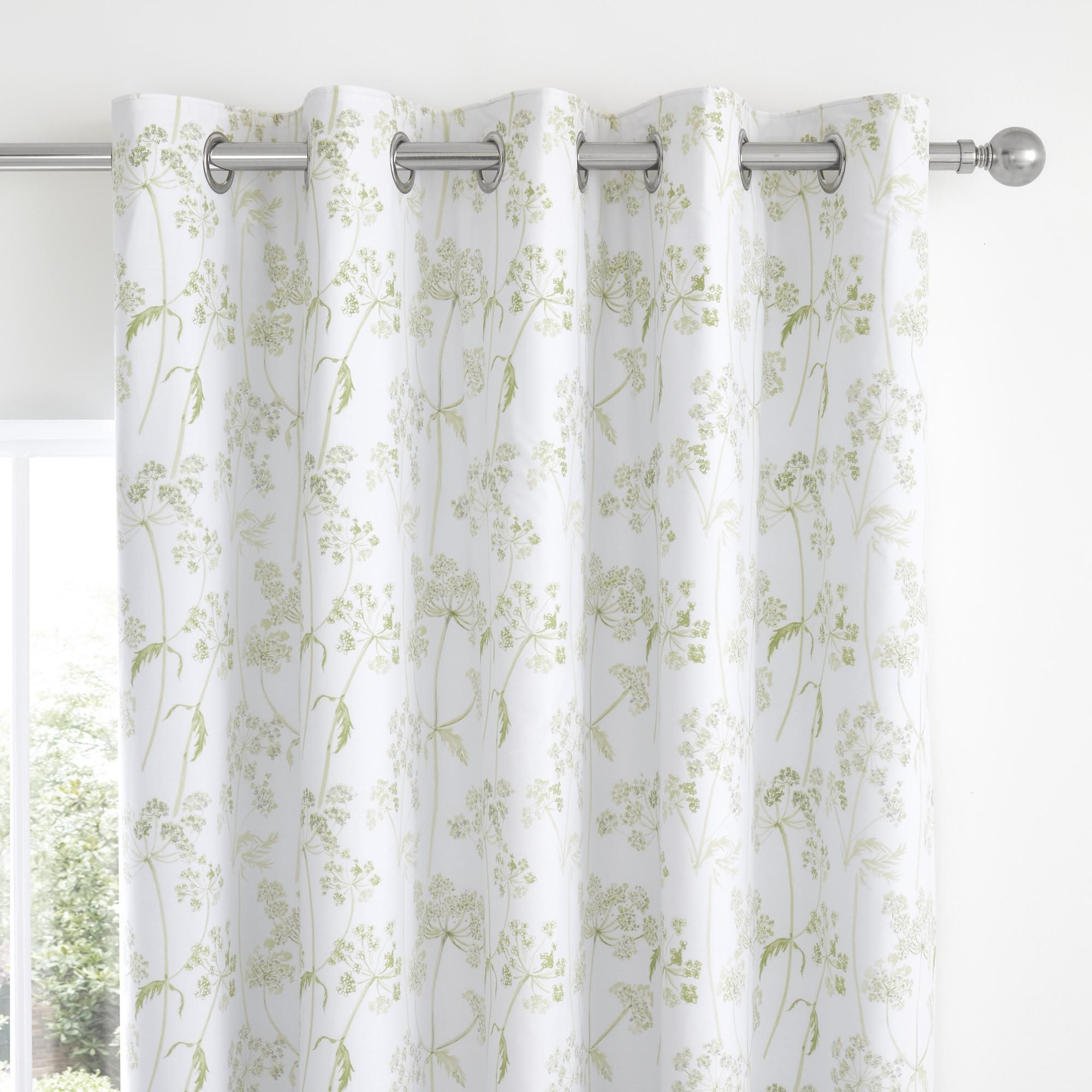 Felicity White Floral Blackout Eyelet Curtains In 2020 Blackout