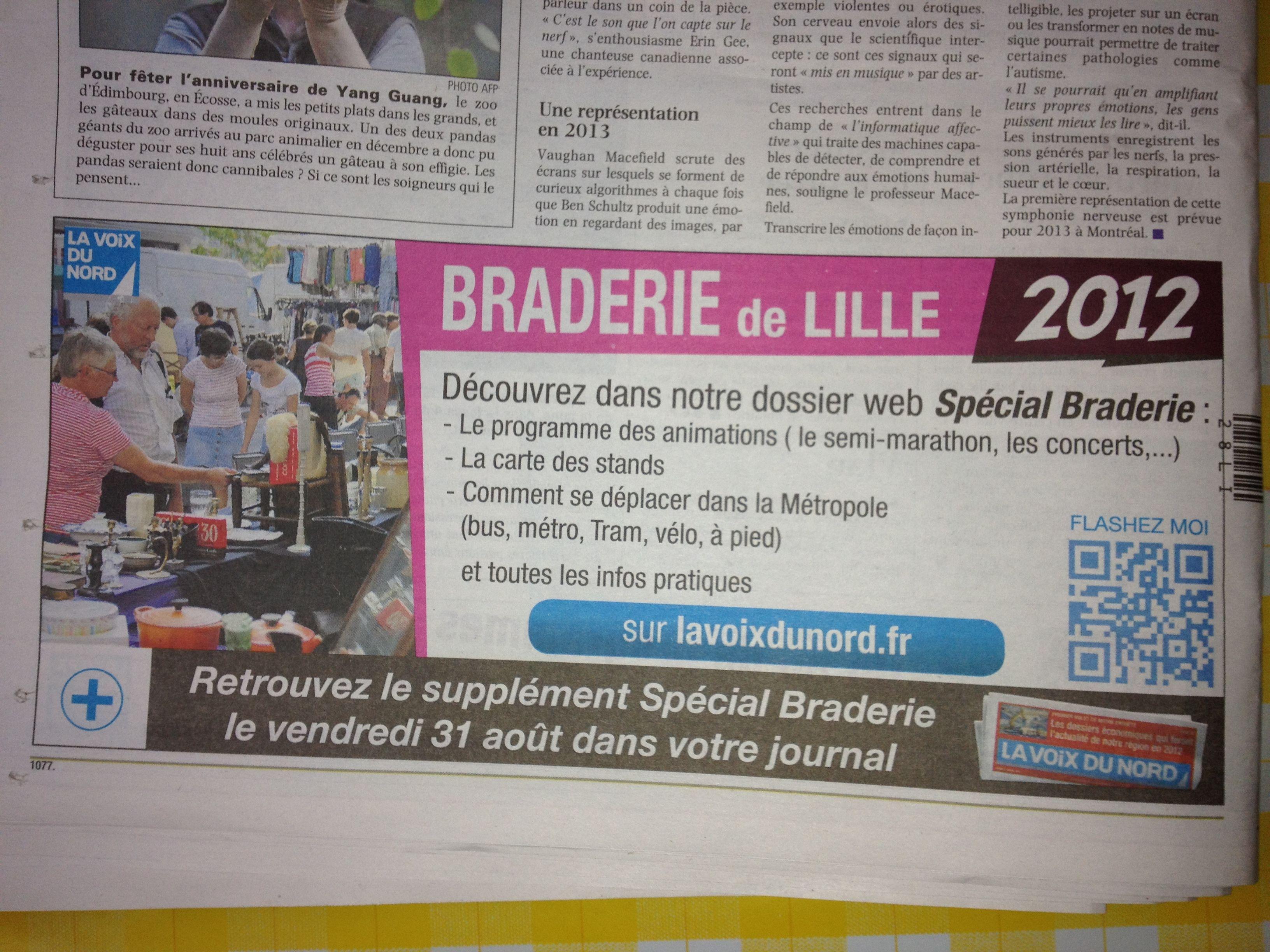 QR Code pour la Braderie de Lille dans le journal La Voix du Nord ...