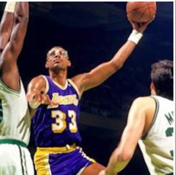 Kareem Abdul Jabbar In My Opinion Is The Best Basketball Player Of The Decade He Knows How To Drive The Ball And Get Points On The Board He Is A Great Weapon