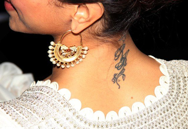 Bollywood Celebrities And Their Tattoos Deepika Padukone Deepika Padukone Style Bollywood Celebrities