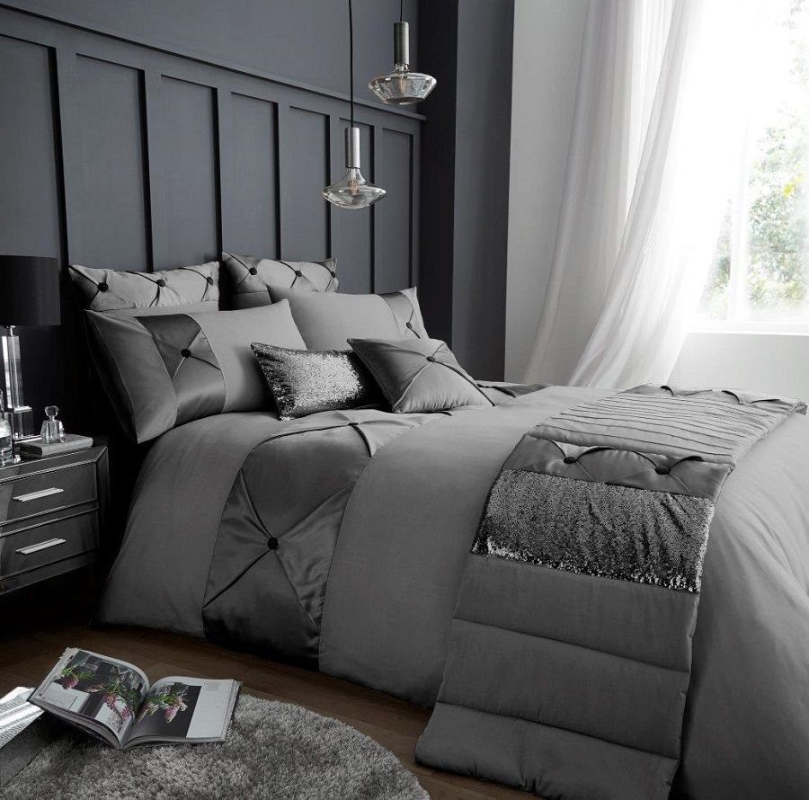 Signature Lush Grey Silver Duvet Quilt Cover Bedding Set Linen And Bedding Bed Linens Luxury Duvet Cover Sets White Duvet