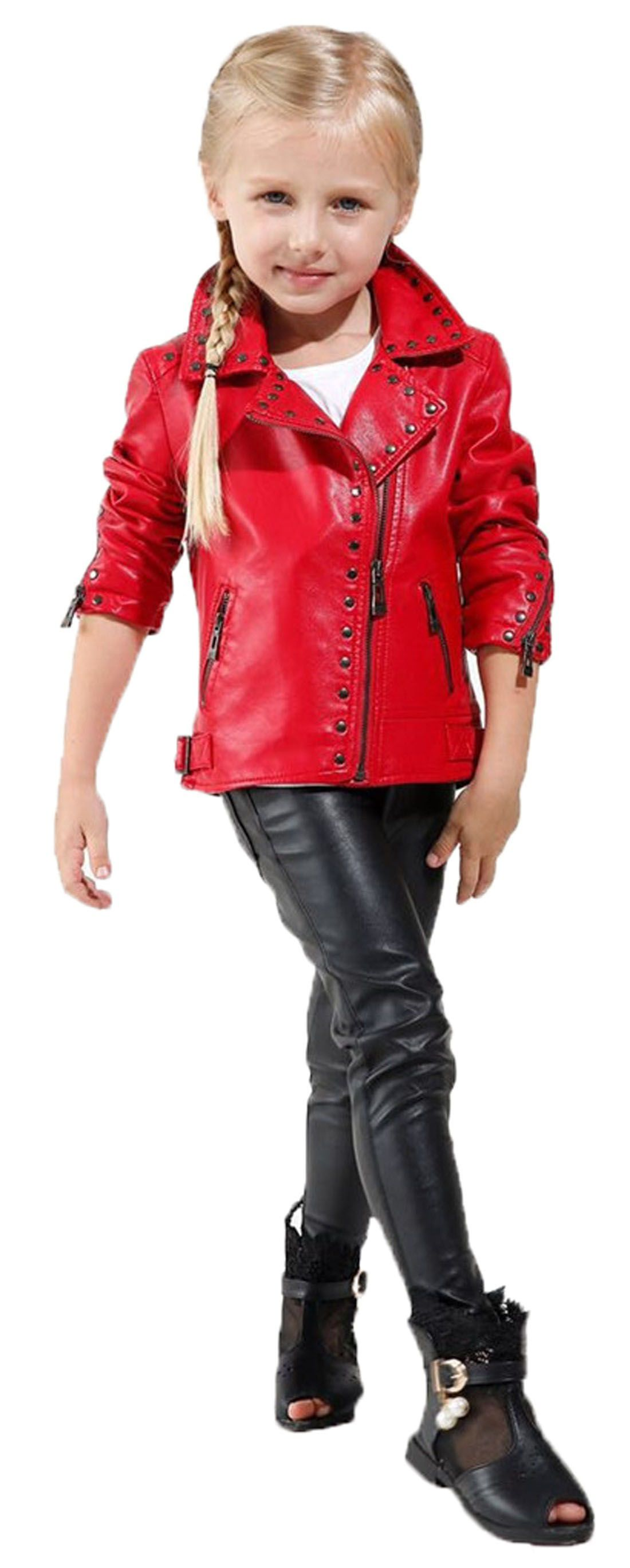 Pin By Luck On Girl S Biker Jacket Faux Leather Rivets Leather Motor Jacket Girls Trench Coat Baby Boy Jackets Red Leather Jacket [ 2737 x 1100 Pixel ]