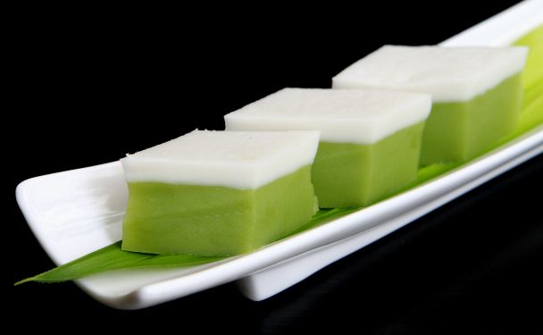 Kuih Talam Kuali Recipe Food Asian Desserts Nyonya Food