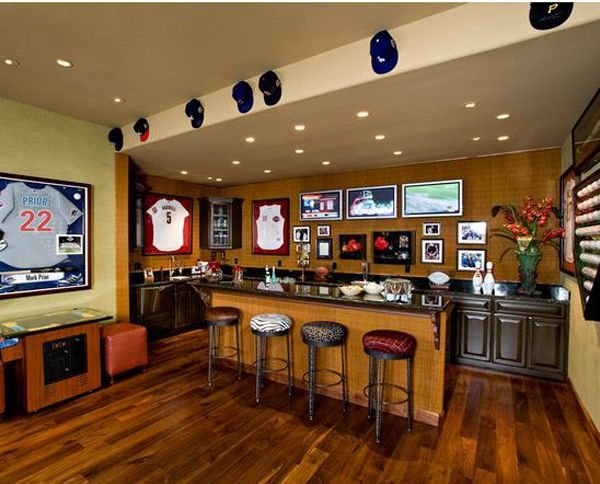 Man Cave With Sports Bar Bars For Home Home Bar Designs