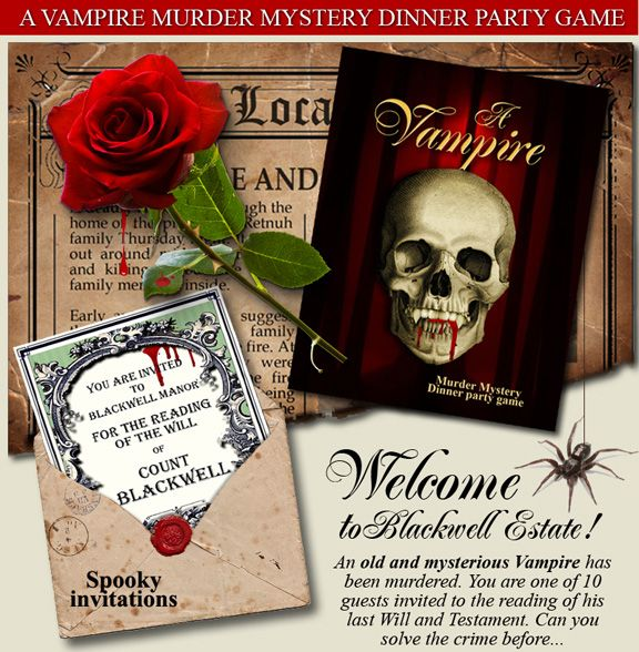 Best Murder Mystery Dinner Free: Vampire Murder Mystery... The Download Comes With Easy To