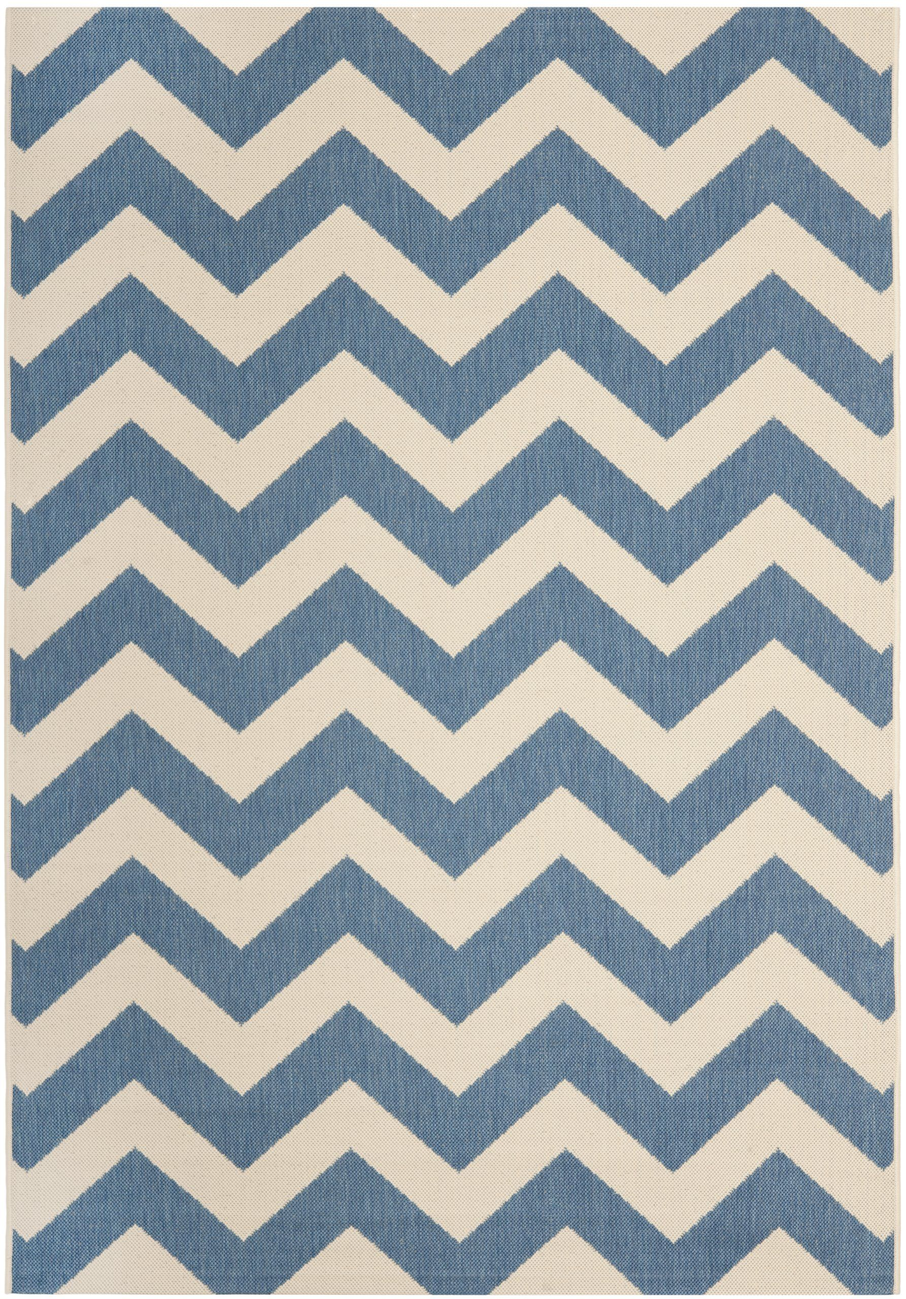 Amazon Com Safavieh Cy6244 243 Courtyard Collection Indoor Outdoor Area Rug 9 Feet By 12 Feet Blue And Beige Bought Beige Area Rugs Patio Rugs Beige Rug