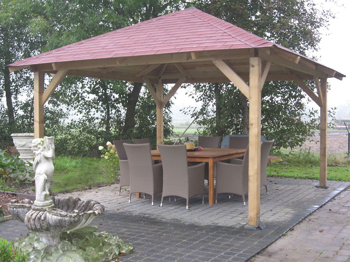 Gazebo Ideas Garden Wooden Hot Tub Pavilion Pergola Arbour Tanalised Solid Roof With Forest Burford Also And