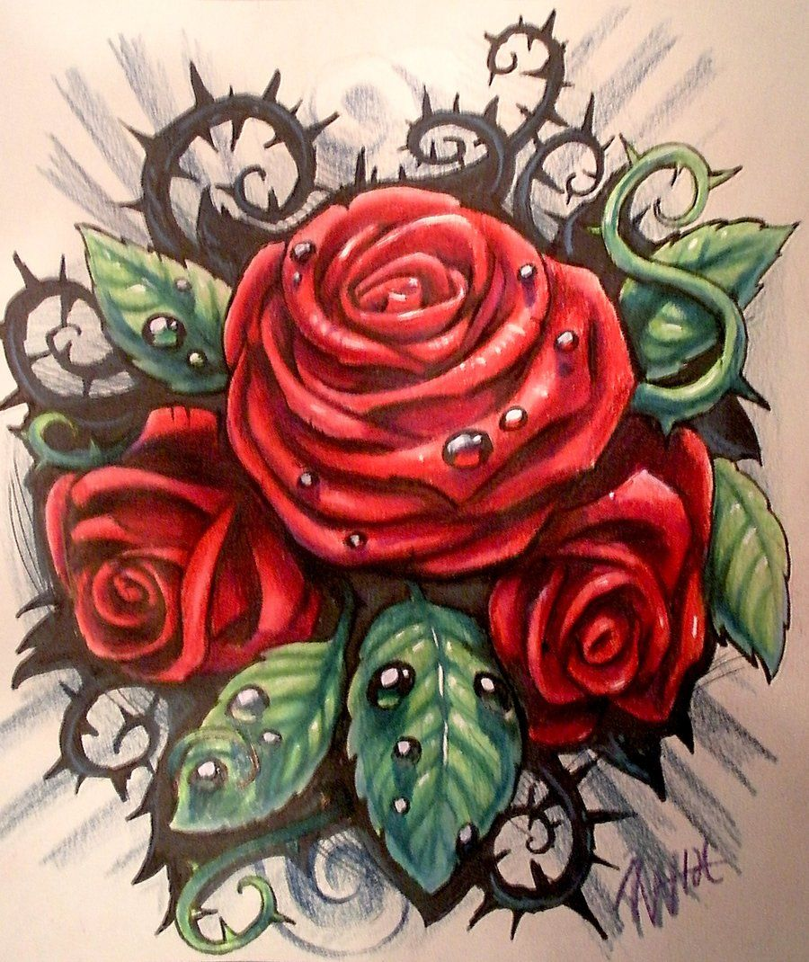 Rose With Thorns Tattoo Ideas Pinterest Rose Tattoos Tattoo