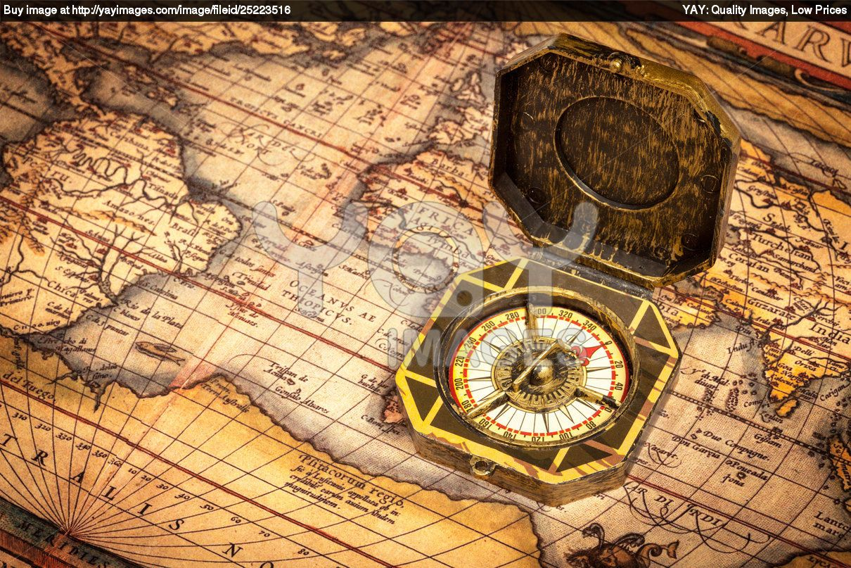 Royalty Free Image Of Vintage Pirate Compass On Ancient Map Pirate Compass Ancient Maps Pirate Tattoo