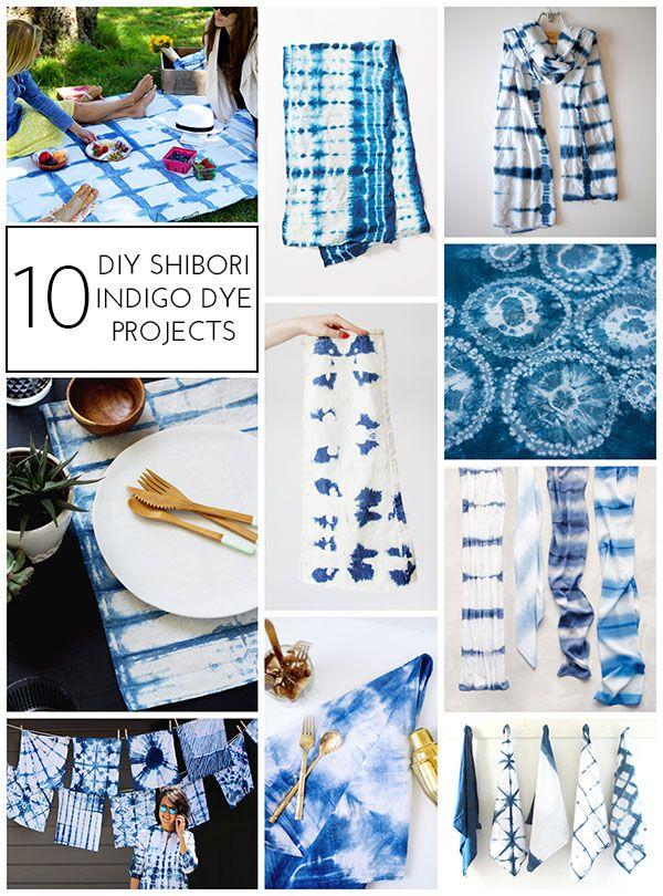 10 Diy Shibori Indigo Dye Projects Indigo Dye Shibori