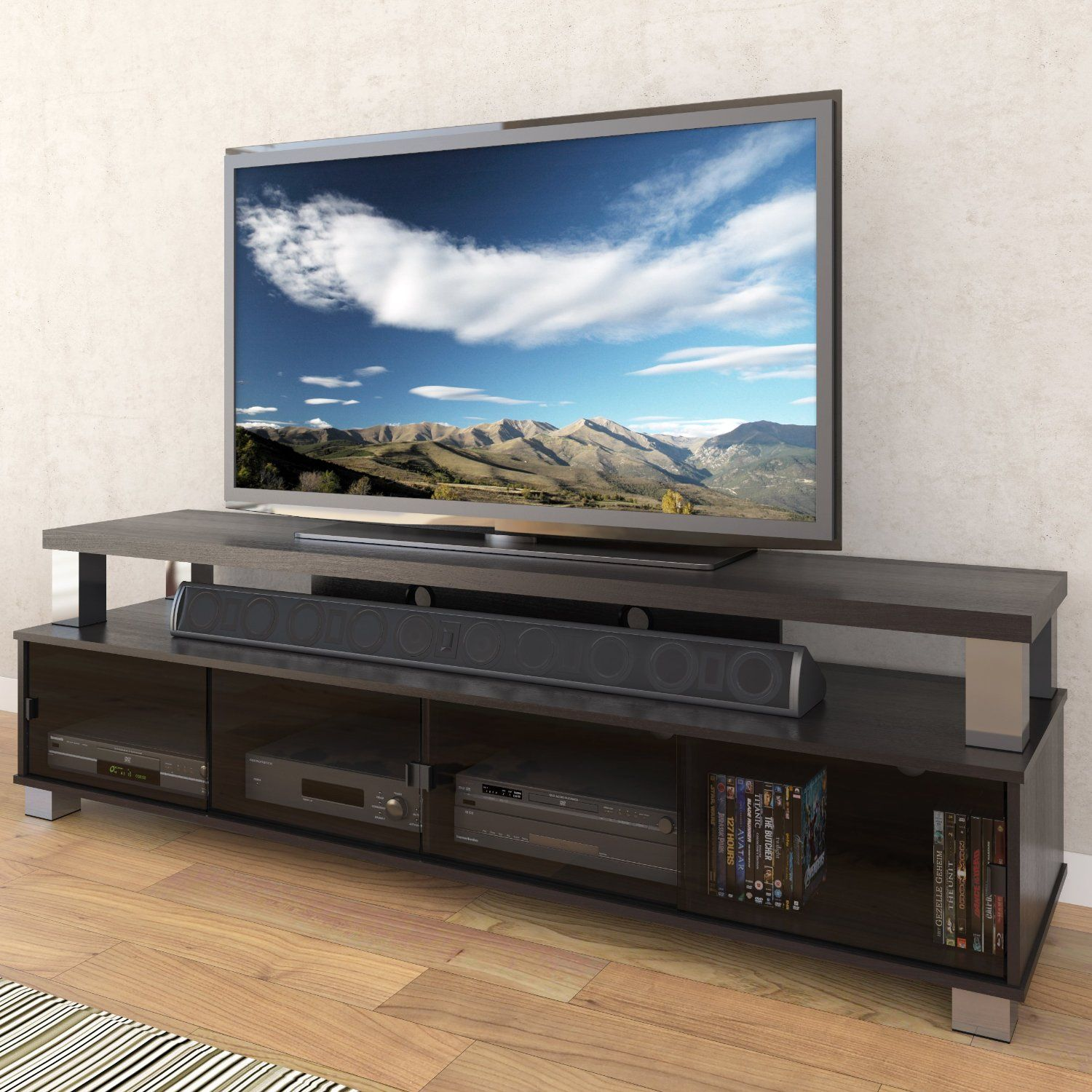 awesome contemporary entertainment centers for flat screen tvs with