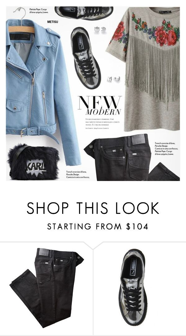 """""""Casual Style:New Modern"""" by metisu-fashion ❤ liked on Polyvore featuring BRAX, Karl Lagerfeld, modern, polyvoreeditorial and polyvoreset"""