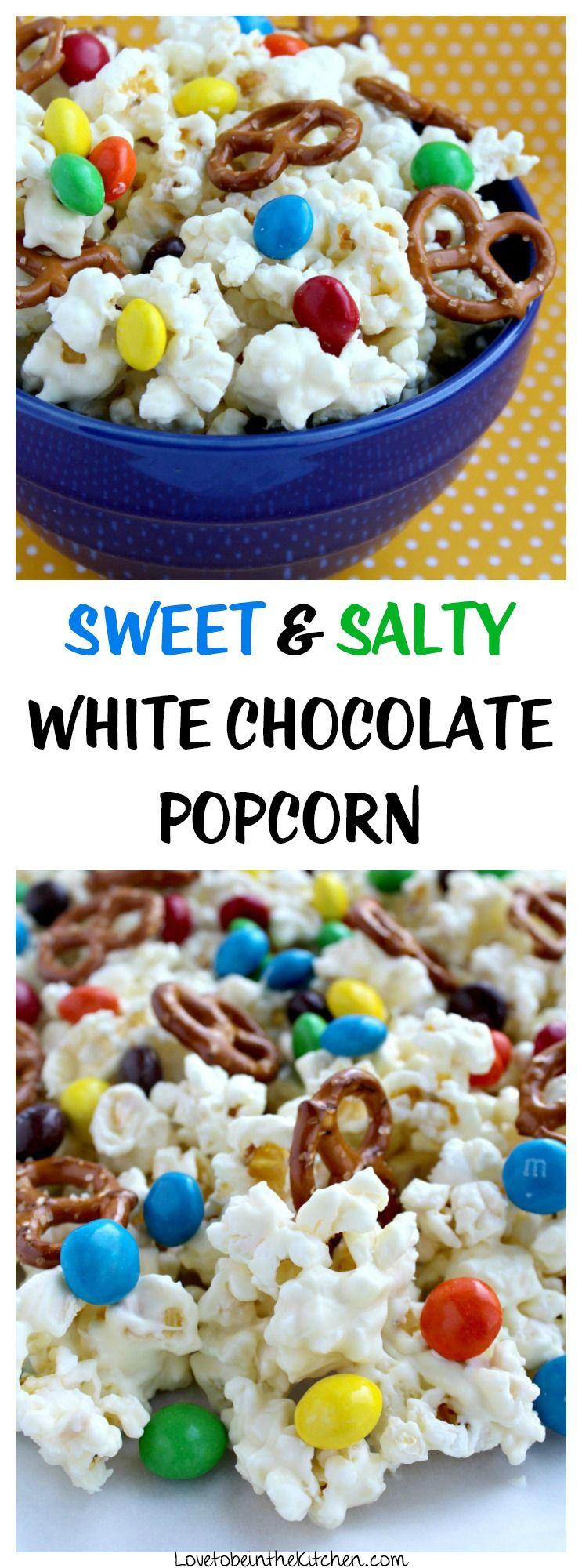 Sweet and Salty White Chocolate Popcorn #epicmovie