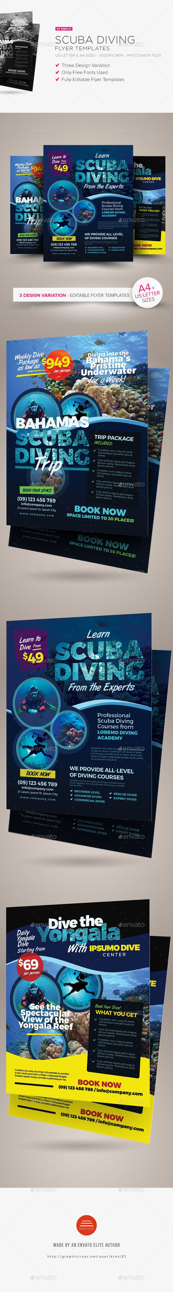 Scuba Diving Flyer Templates Flyer Template Scubas And Template