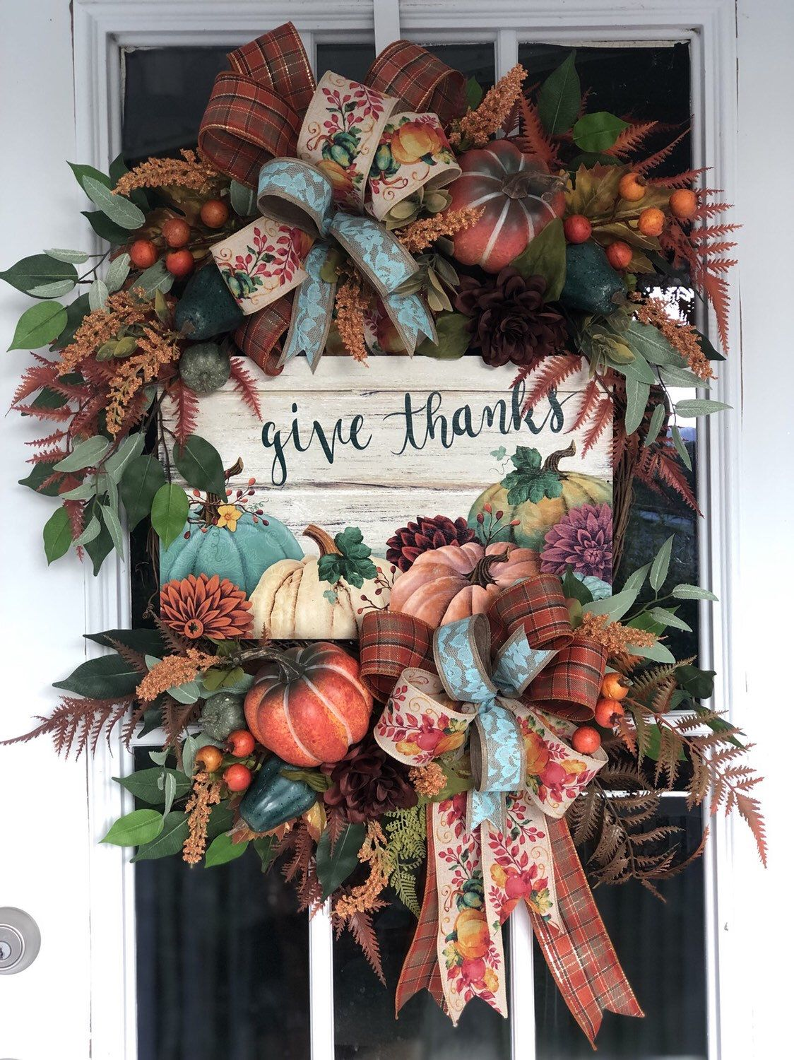Excited To Share This Item From My Etsy Shop Fall Wreath For Front Door Front Door Fall Wreath Color Fall Wreath Colorful Fall Wreaths Thanksgiving Wreaths