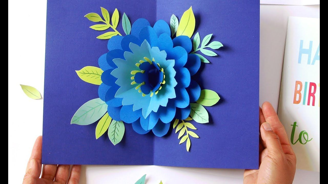 diy happy mother's day card pop up flower free templates