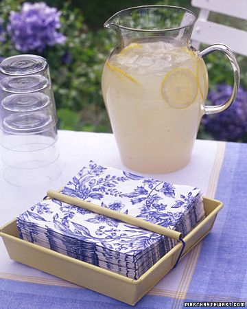 Outdoor Napkin Holder, can be personalize to match any decor.