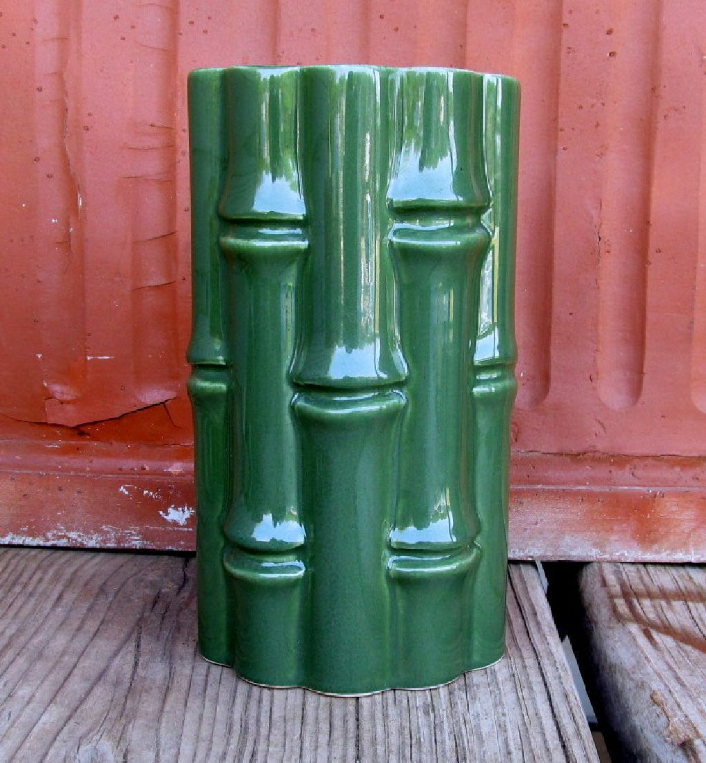 Red wing pottery no 400 bamboo vase green yellow tiki bar decor red wing pottery no 400 bamboo vase green yellow tiki bar decor reviewsmspy