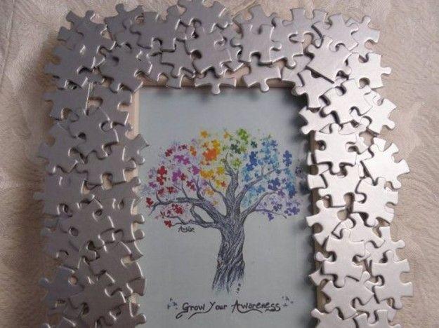 Cornicette bambini ~ Cornice con i puzzle cornici fai da te pinterest cornici