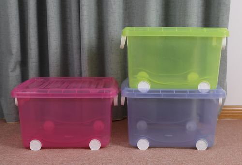 Set Of 3 Large Storage Containers With Wheels Storage Containers