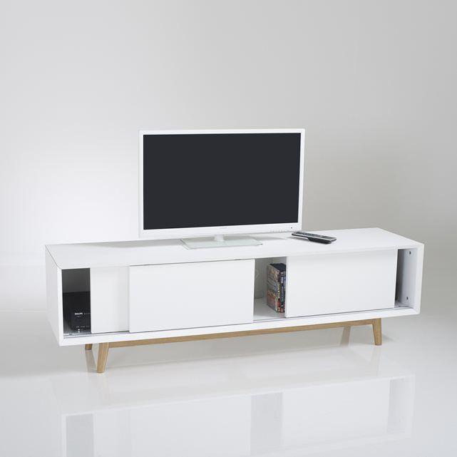 bild tv bank jimi vintage style 3 schiebet ren la. Black Bedroom Furniture Sets. Home Design Ideas