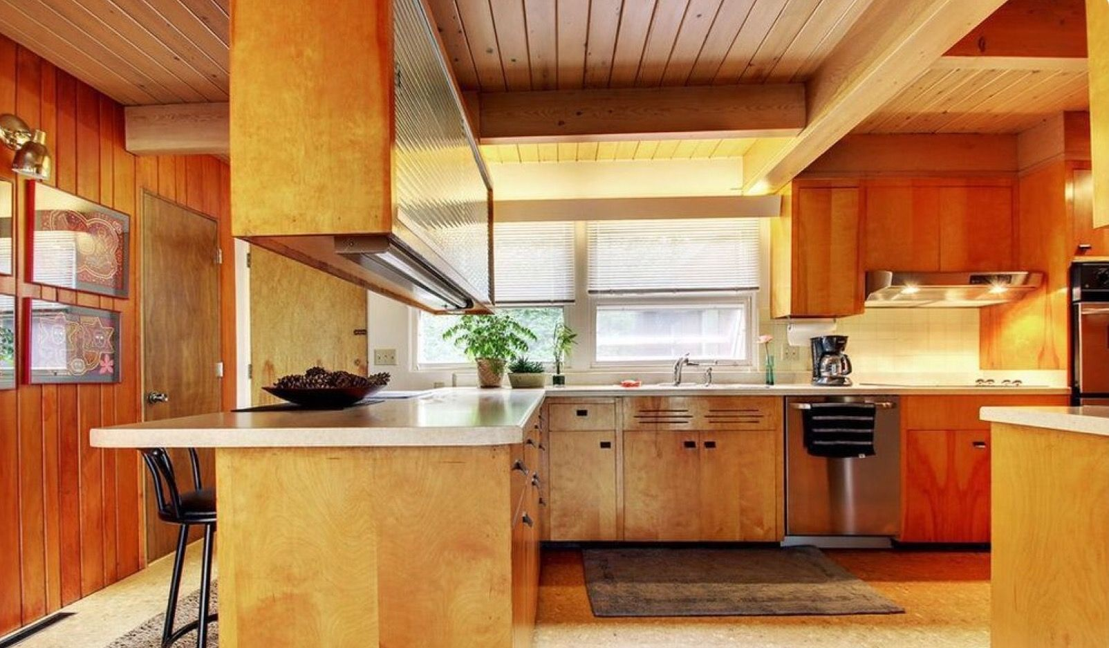 Pin By Sue Rutherford On Mid Century Kitchens Glass Kitchen Cabinets Kitchen Cabinet Remodel New Kitchen Cabinets